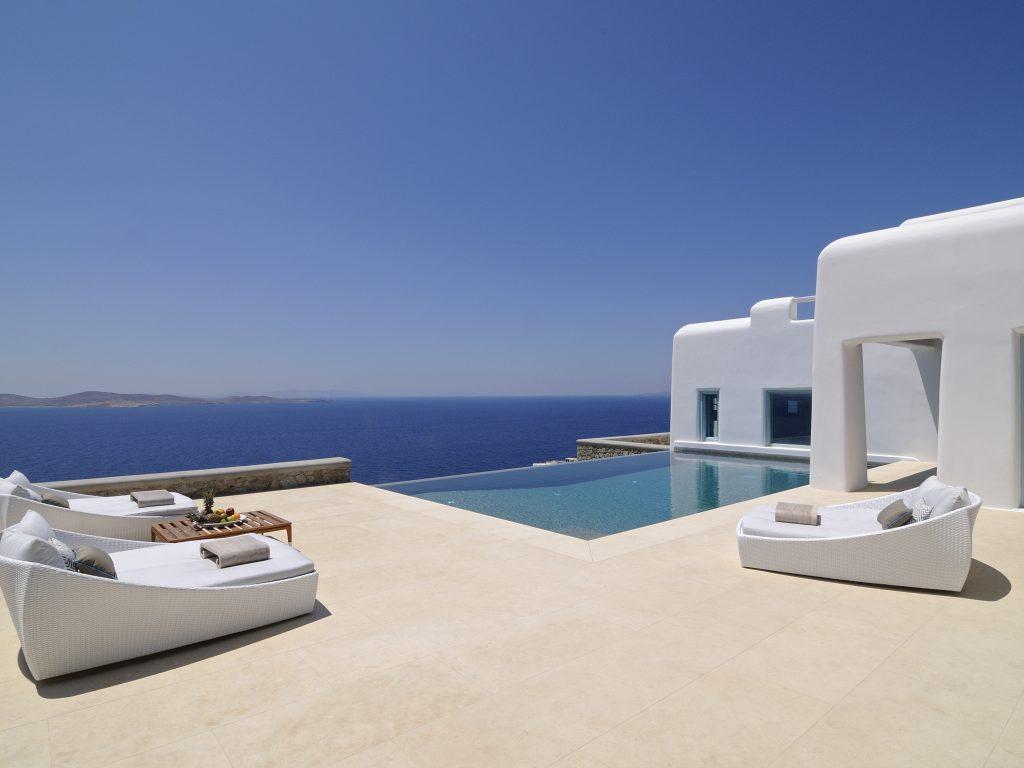 panoramic villa outdoor sea view