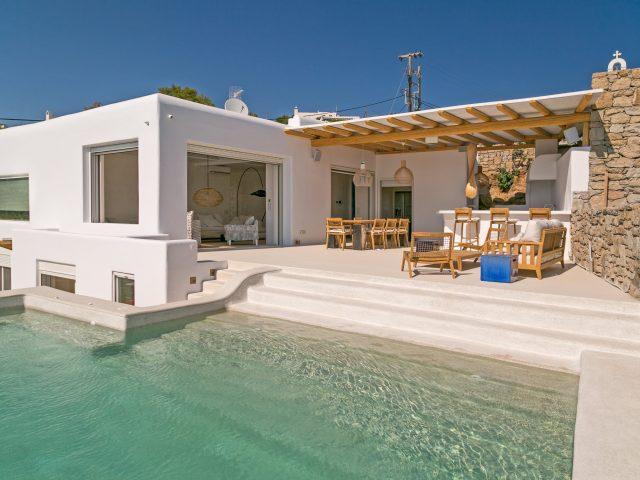 beachfront villa outdoors