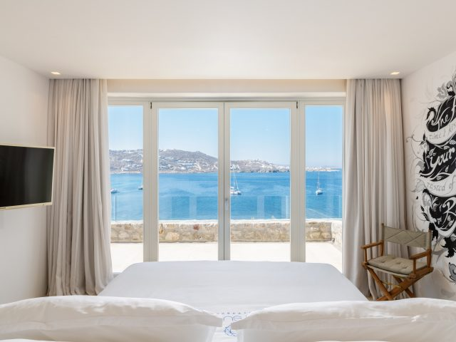 seafront bedroom
